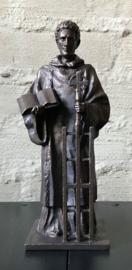 Beeld Sint Laurentius | groot | bronskleur