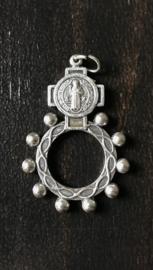 Benedictus rozenkrans tientje | metaal