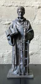 Beeld Sint Laurentius | groot | bronsgroene kleur