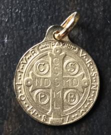 Medaille St. Benedictus  | Goud verguld 18K 21 mm