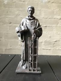 Beeld Sint Laurentius | klein | bronsgroene kleur
