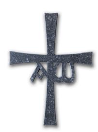 Kruis van keramiek | Groot