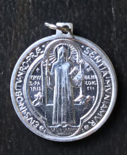 Medaille St. Benedictus  | Alluminium  22 mm