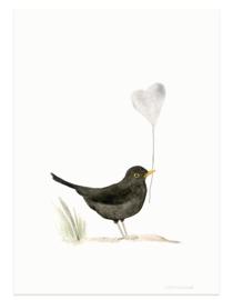 postkaart | Merel & hart