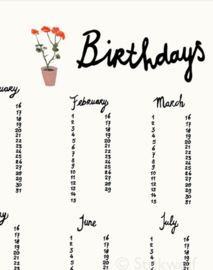 birthday calender   Flower pot