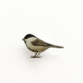 tiny bird broche | Marsh tit