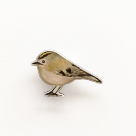 tiny bird broche | Goldcrest