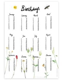 birthday calender | Mountain flowers