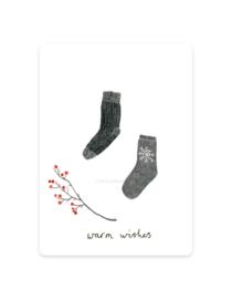 mini kaartje | Sokken winter