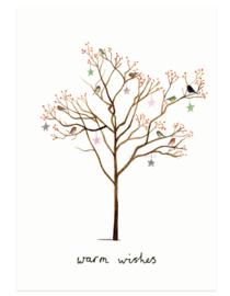 kerstkaart | Vogelboom