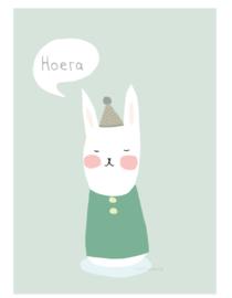 postkaart | Blij konijn