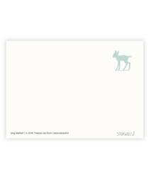 postkaart | Jong edelhert