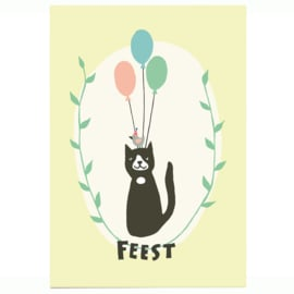 postkaart | Verjaardagskat
