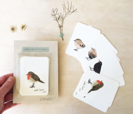 mini kaartjes | Vogels (set)
