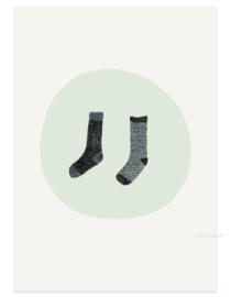 postkaart | Twee sokken