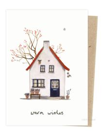 kerstkaart | Huisje bessenboom