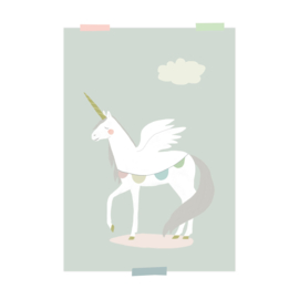 print | Unicorn-grey blue (2 pieces)