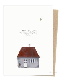 kerstkaart | Klein huisje