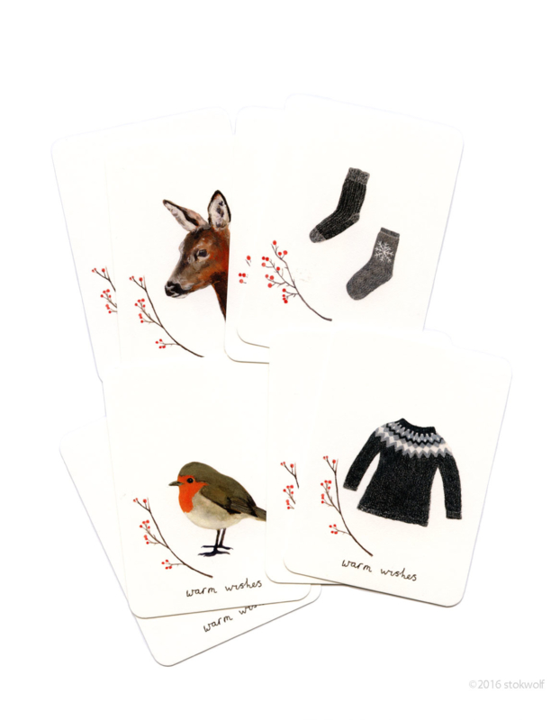 mini kaartjes   Winter (set)