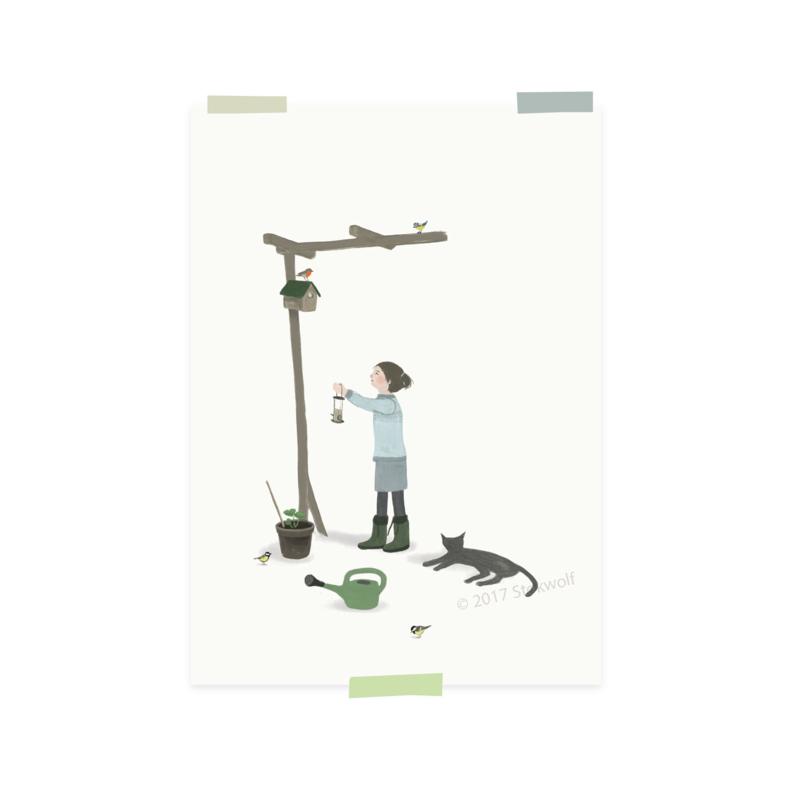 mini print | Garden birds