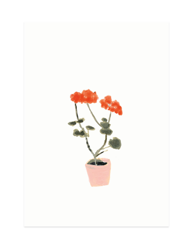 mini kaartje | Geranium (A7)