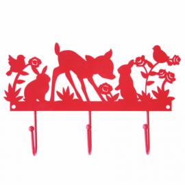 Metalen kinderkapstokje dieren