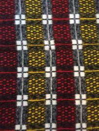 Vintage deken rood/zwart geruit, Dialona