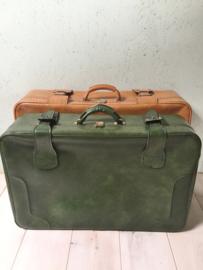 Vintage skai koffer, bruin