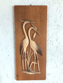 Vintage wanddecoratie hout