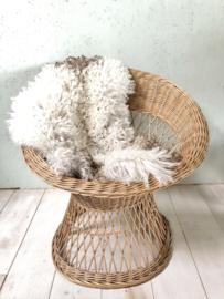 Vintage rieten stoel, bohostyle