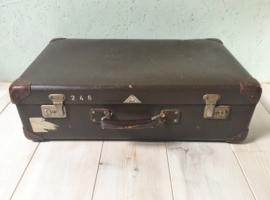 Vintage koffer Hulshof, donkerbruin