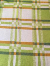Vintage wollen deken groene geruit, Real