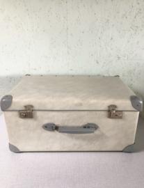 Vintage koffer, lichtgrijs