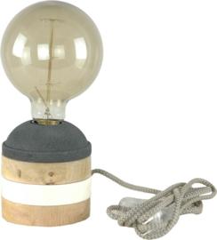 Houten tafellampje