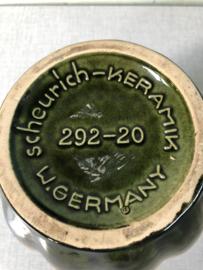 Vintage vaas o.a. W-Germany, groen