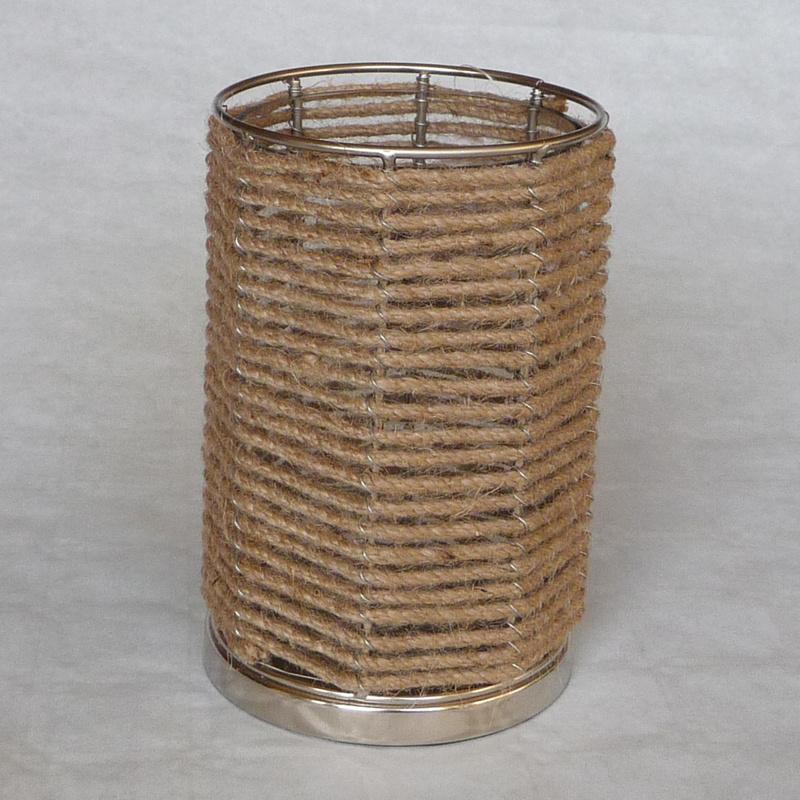 Glazen windlicht met touw
