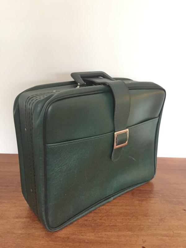 Vintage koffer, groen skai