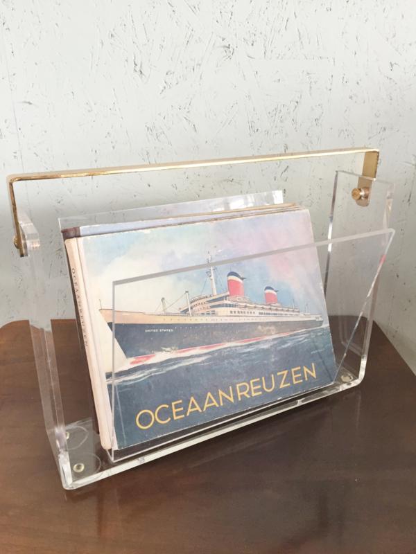 Vintage lectuurbak plexiglas