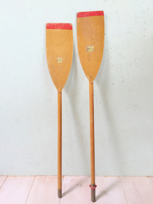 Vintage houten roeispanen, peddels