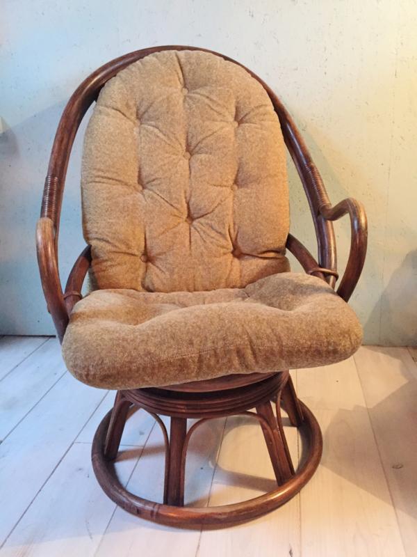 Rotan Manou Draaistoel.Vintage Manou Rotan Stoel Verkocht Gaafinhuis
