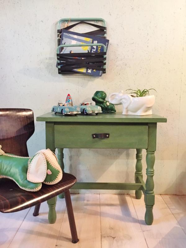 Vintage tafeltje, groen