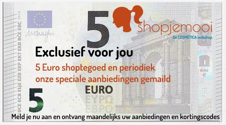 5 euro shoptegoed en kortingscode