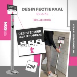 Desinfectie paal voorzien van je eigen logo