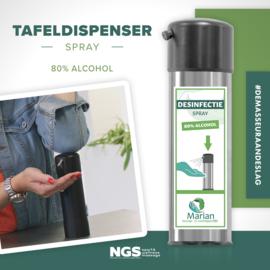 Desinfectie tafeldispenser voorzien van je eigen logo