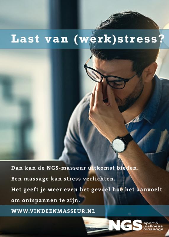 ACTIE! Posters en flyers - Last van (werk)stress? + PDF met handige tips en magazine
