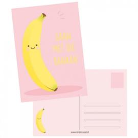 Ansichtkaart - Gaan met die banaan