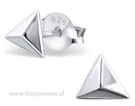 Oorknopjes 925 zilver Pyramide