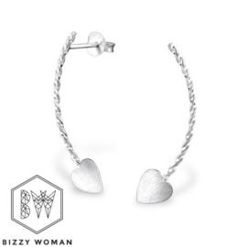 Oorlijn oorbel 925 zilver Ziyo