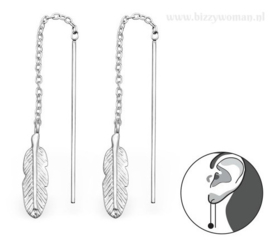 Oorhangers 925 zilver Feather