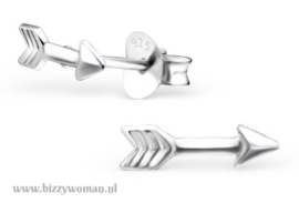 Oorknopjes 925 zilver Arrow